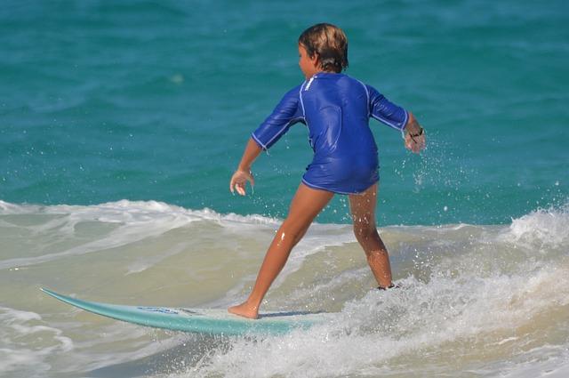 kluk na surfu