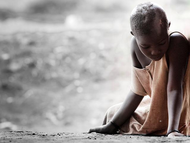 smutná afričanka